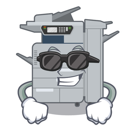 Super cool copier machine isolated in the cartoon vector illustration 矢量图像