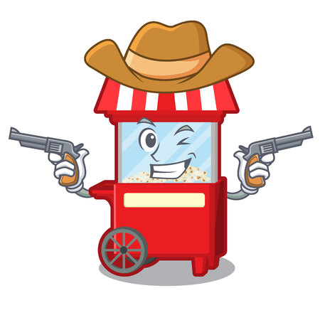 Cowboy popcron machine in the character shape