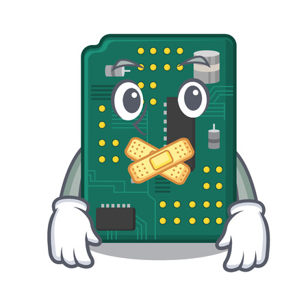Silent PCB circuit board in the cartoon