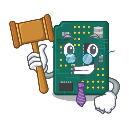 Judge PCB circuit board in the cartoon