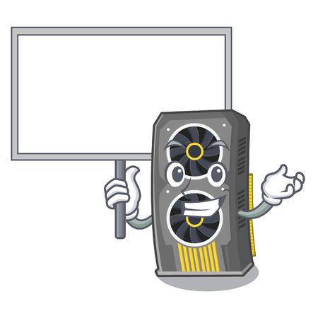Bring board video graphics card in shape mascot