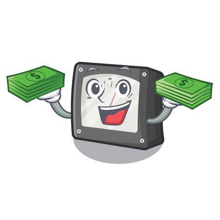 With money  meter ampere in the character box