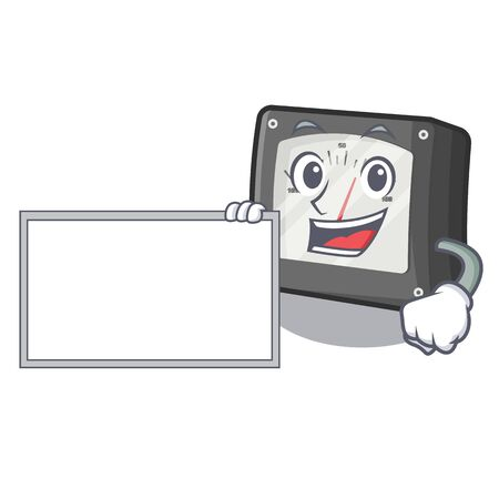 With board ampere meter isolated in the mascot