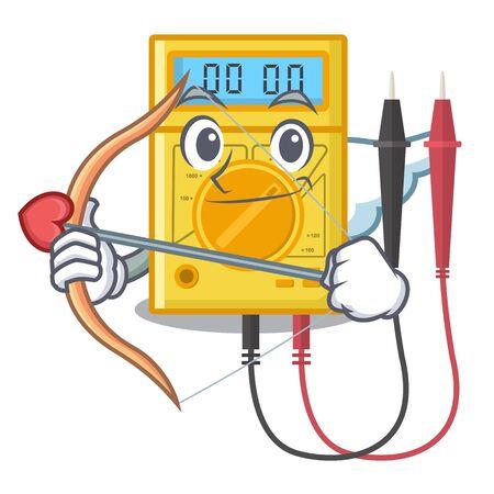 Cupid digital multimeter in the mascot closet vector illustration Vector Illustration