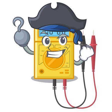 Pirate digital multimeter in the mascot closet Illustration