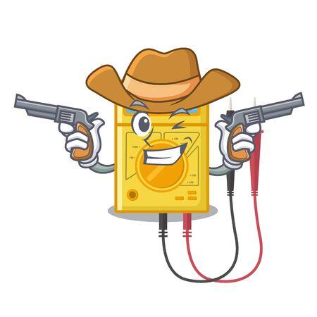 Cowboy digital multimeter in the mascot closet