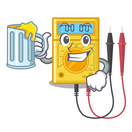 With juice digital multimeter toys in cartoon shape