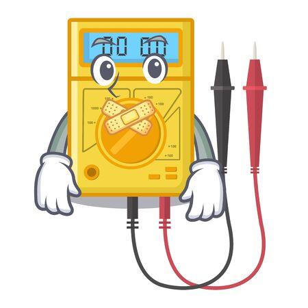 Silent digital multimeter sticks to the cartoon wall