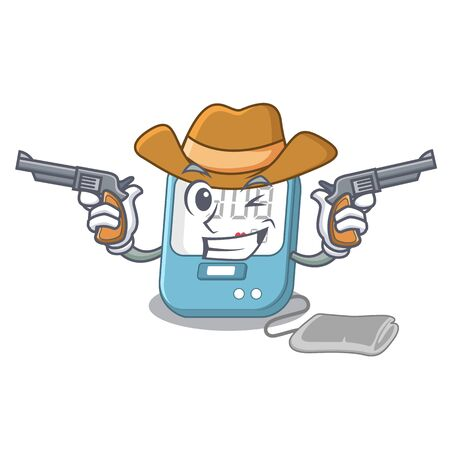 Cowboy blood pressure isolated with the character