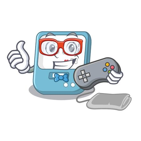 Gamer blood pressure in cartoon medicine box