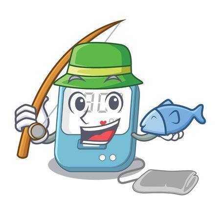 Fishing blood pressure in cartoon medicine box