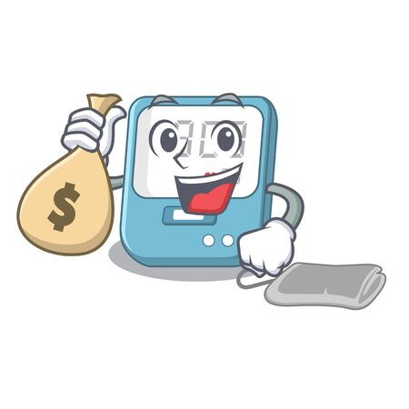 With money bag blood pressure isolated with the character
