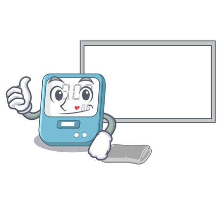 Thumbs up with board blood pressure isolated with the character Illustration