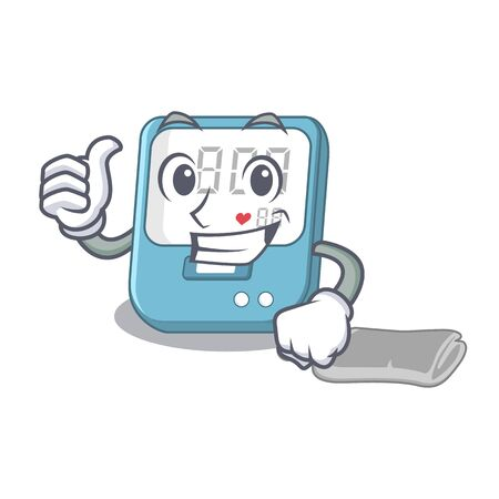 Thumbs up blood pressure in the mascot shape