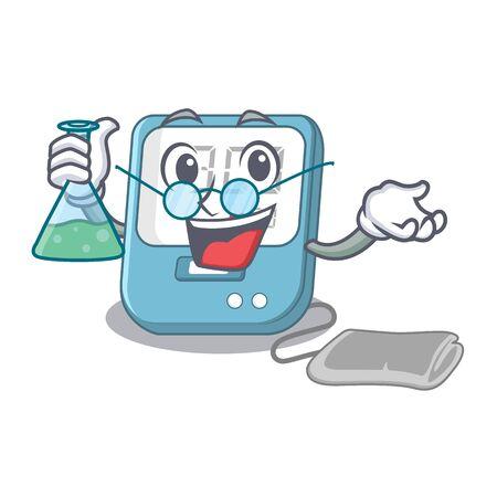 Professor blood pressure in the mascot shape