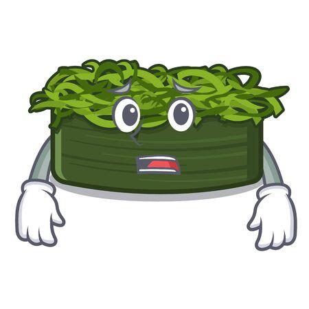 Afraid wakame chuka in the character shape vector illustration