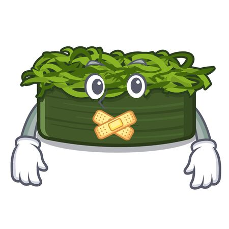 Silent chuka wakame in a cartoon bowl vector illustration