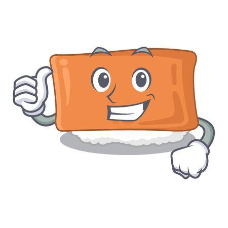 Thumbs up inari sushi in the cartoon shape vector illustration Illustration