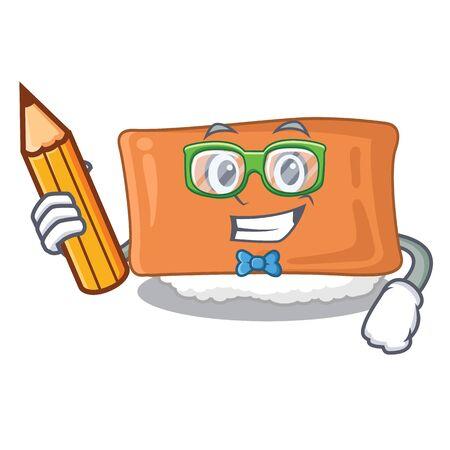 Student inari sushi in the cartoon shape vector illustration