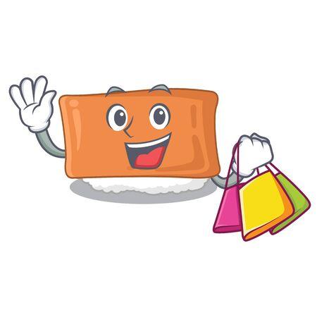 Shopping inari sushi in the cartoon shape vector illustration