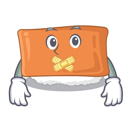 Silent inari sushi isolated with the mascot vector illustration Çizim