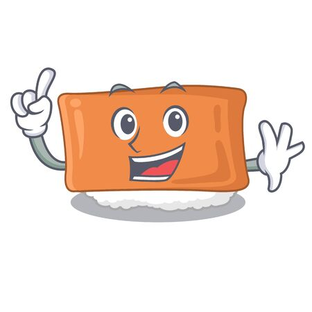 Finger inari sushi isolated with the mascot vector illustration