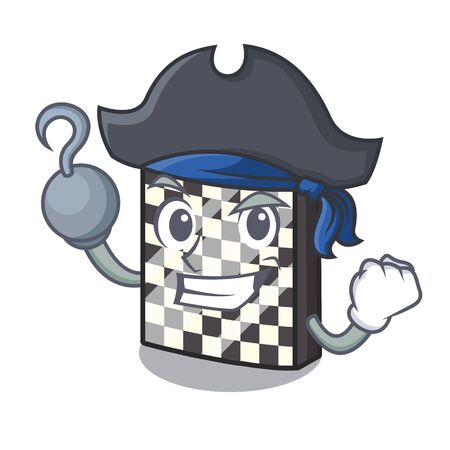 Pirate chessboard with in the a mascot vector illustration