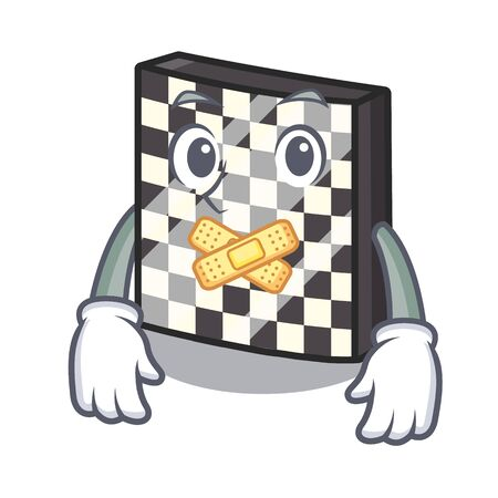 Silent chessboard toys next to the closet vector illustration Ilustração