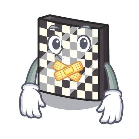 Silent chessboard toys next to the closet vector illustration Çizim