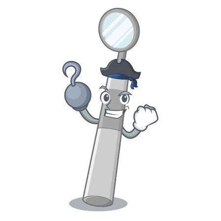 Pirate dental mirror in the mascot shape vector illustration Standard-Bild - 124699970