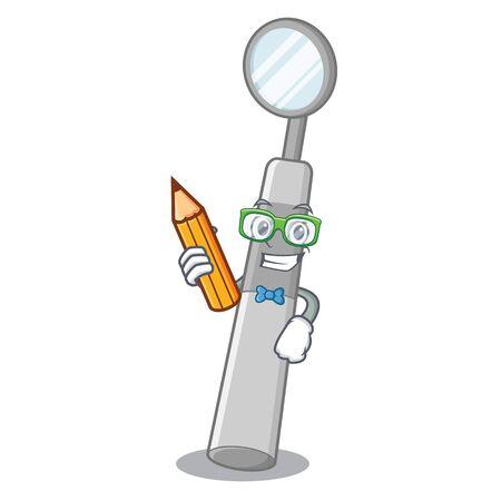 Student dental mirror in box cartoon medicine vector illustration Standard-Bild - 124692862