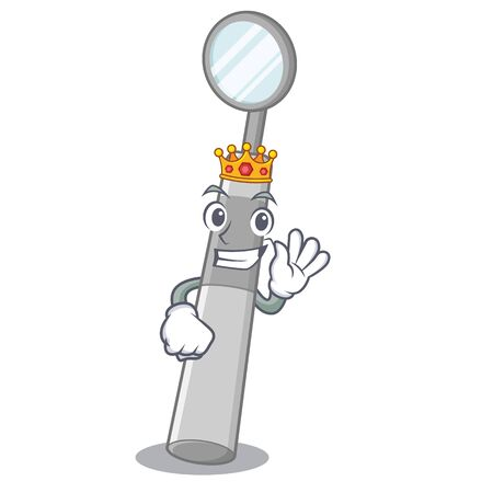 King dental mirror in a cartoon basket vector illustration Standard-Bild - 124692607