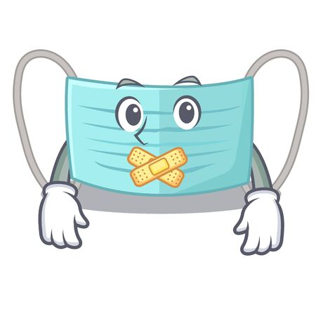 Silent surgical mask in a cartoon wallet