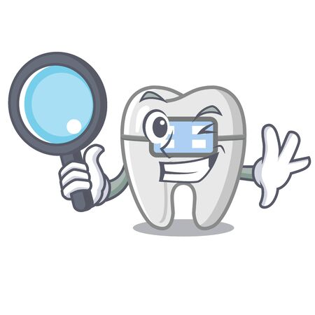 Detective braces isolated with in the cartoon vector illustration