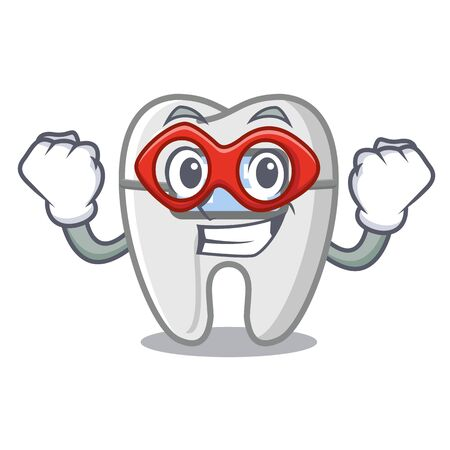 Super hero braces isolated with in the cartoon vector illustration Illustration