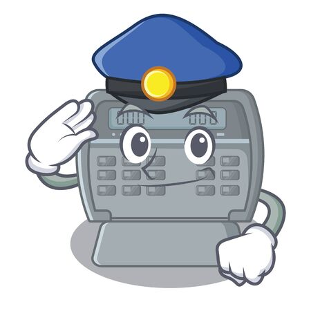Police security alarm isolated in the cartoon vector illustration Illustration