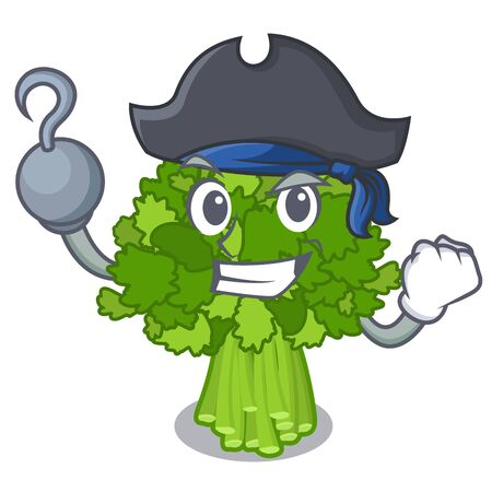 Pirate broccoli rabe isolated in the character