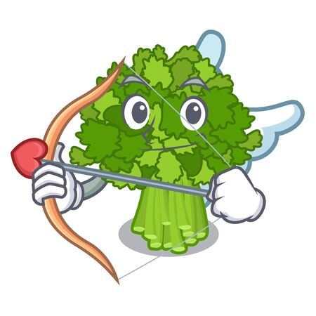 Cupid broccoli rabe isolated in the character