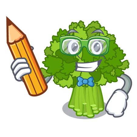 Student broccoli rabe in the cartoon shape 일러스트