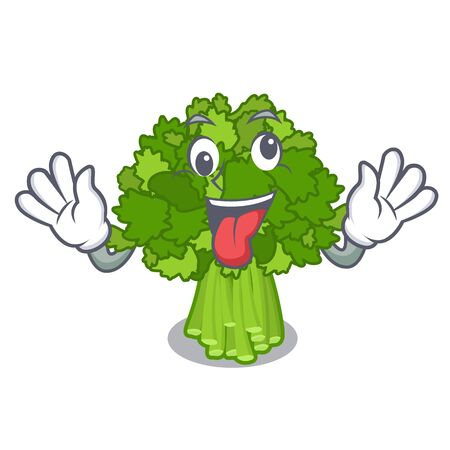 Crazy broccoli rabe above cartoon plate