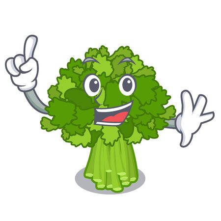 Finger broccoli rabe above cartoon plate