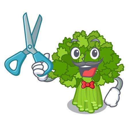 Barber broccoli rabe isolated in the character Ilustração