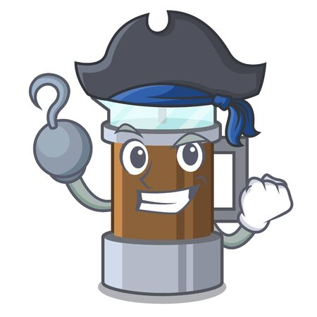 Pirate french press isolated with the character