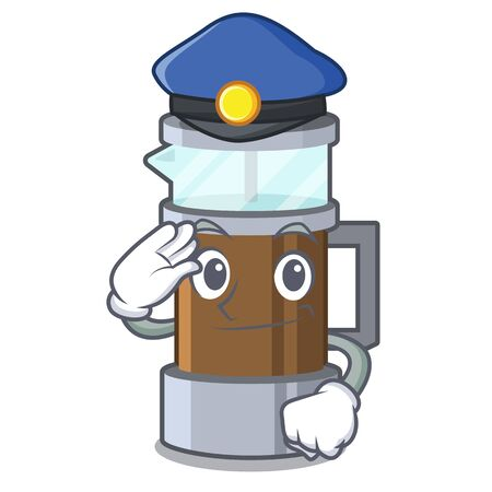 Police french press isolated with the character