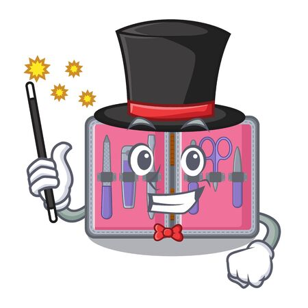 Magician manicure kit in the character shape