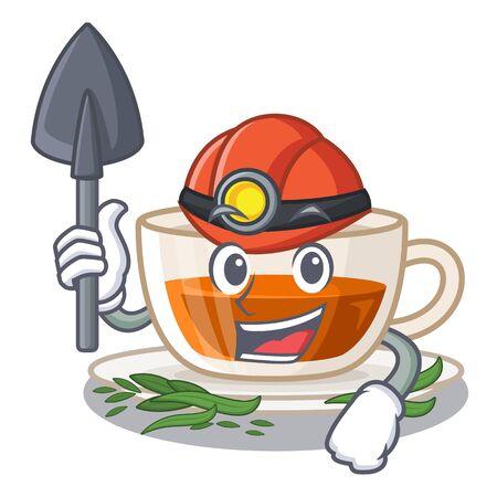 Miner darjeeling tea in the character bottle