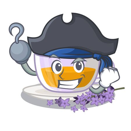 Pirate lavender tea in the mascot shape