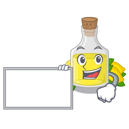 With board lemon oil in the mascot shape