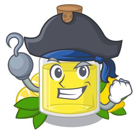 Pirate lemon oil in the mascot shape Иллюстрация