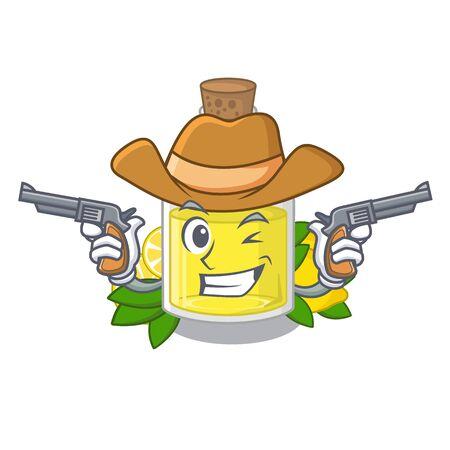 Cowboy lemon oil in the mascot shape
